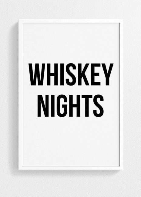 Coffee Days Whiskey Nights | Set of two posters Coffee Art Prints