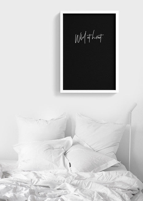wild-at-heart typography Printable Poster