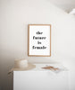 The future is female - THE PRINTABLE CONCEPT - Printable art posterDigital Download -