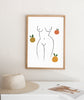 Summer Body and fruits - THE PRINTABLE CONCEPT - Printable art posterDigital Download -