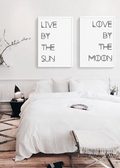 Live by the Sun ∞ Love by the Moon - THE PRINTABLE CONCEPT - Printable art posterDigital Download -