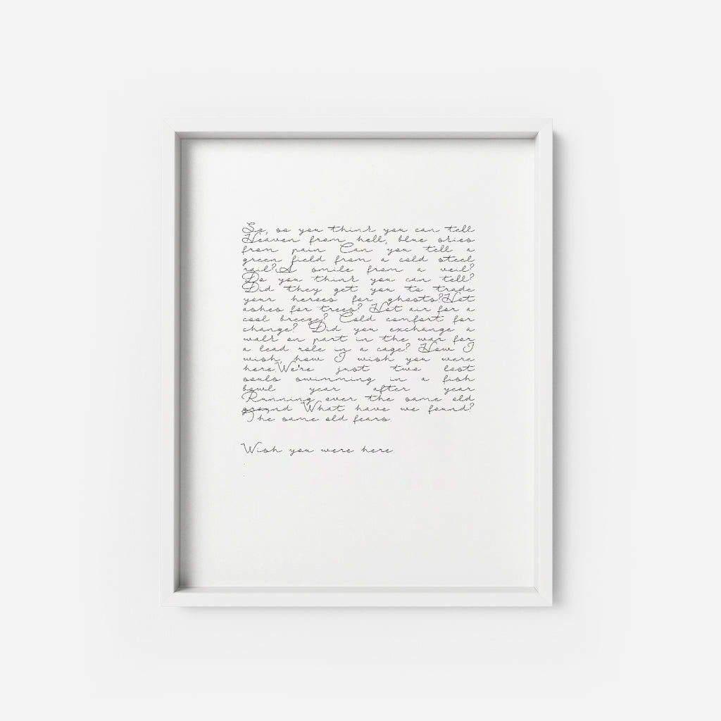 WISH YOU WERE HERE - THE PRINTABLE CONCEPT - Printable art posterDigital Download -