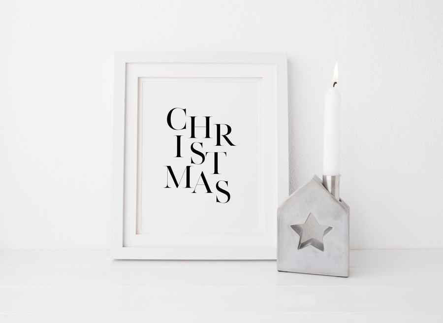 Christmas - THE PRINTABLE CONCEPT - Printable art posterDigital Download -