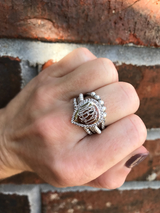 Monogram Stackable Quad Band Ring