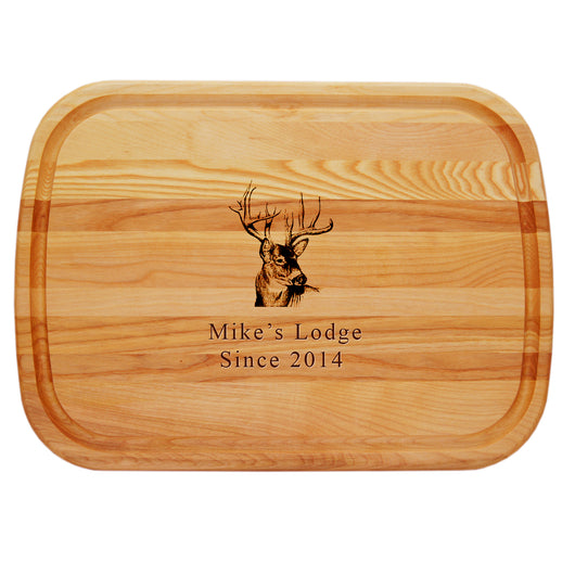 Buck Lodge Personalized Cutting Board