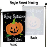 Personalized Halloween Garden Flag, Personalized Pumpkin Garden Flag