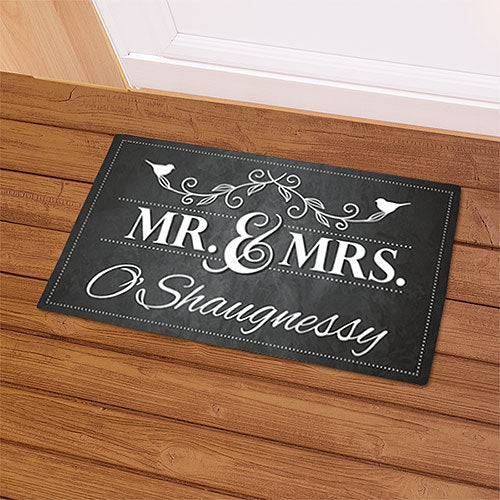 Personalized Couples Doormat, Mr. & Mrs. Welcome Doormat-New Couple Door mat