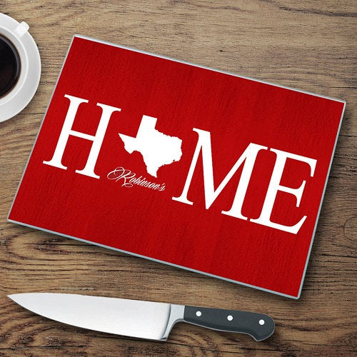 Personalized Home State Cutting Board-Home Decor Gifts-Housewarming Gifts-Mother's Day Gifts-Weding Gift