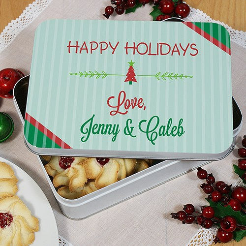 Personalized Holiday Treat Tin
