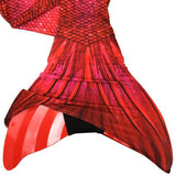Mermaid Tail Fiji Red Pattern