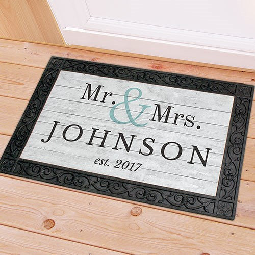 Personalized Mr and Mrs Couple's Doormat