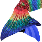 Mermaid Tail Seven Seas Rainbow Pattern-Swimmable Mermaid Tail