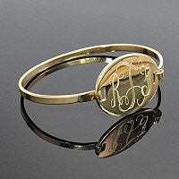 Monogrammed Bangle-Engraved Bangle-Gold Bangle-Monogram Bangle