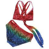 Mermaid Bikini Set Seven Seas Rainbow Pattern
