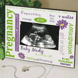 Personalized Pregnancy Ultrasound Frame-Custom Ultrasound Frame