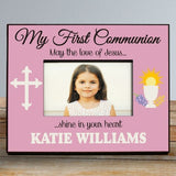 Personalized My First Communion Frame in Pink or Green