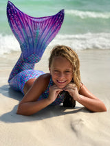 Mermaid Tail Aurora Borealis Pattern-Swimmable Mermaid Tail