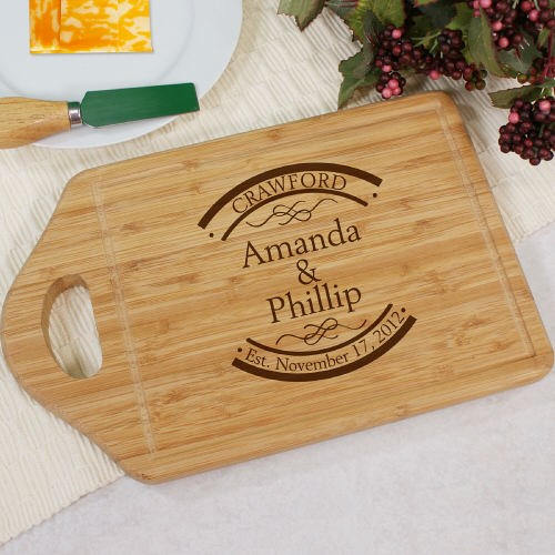 Personalized Bamboo Cheese Carving Board