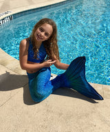 Mermaid Tail Blue Lagoon Pattern-Swimmable Mermaid Tail