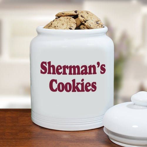 Personalized Ceramic Cookie Jar-Personalized Treat Jar