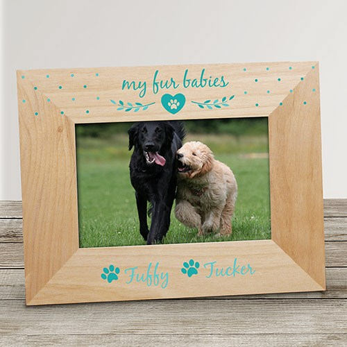 Personalized Fur Babies Pet Frame-Fur Baby Pet Frame-Wood Pet Frame-Dog Frame-Cat Frame-Pet Lovers Frame