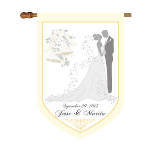 Wedding Personalized House or Garden Flag-Custom Bride and Groom House or Garden Flag