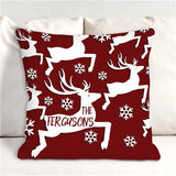 Personalized Reindeer Throw Pillow-Monogram Reindeer Throw Pillow
