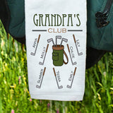 Personalized Golf Club Golf Towel-Golf Towel with Names-Gift for Grandpa-Gift for Dad