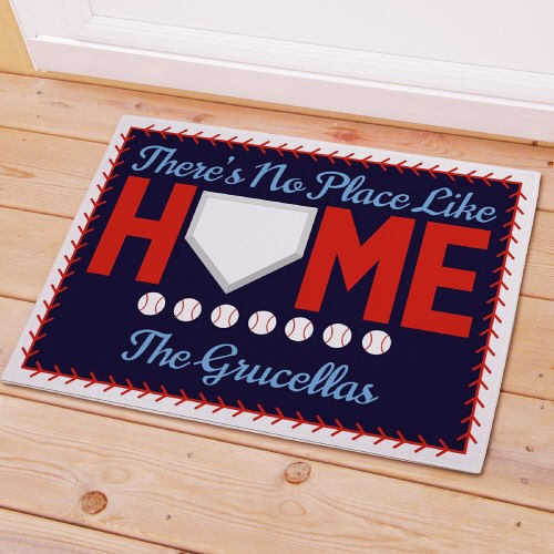 Personalized Baseball Welcome Doormat-No Place like Home Baseball Doormat