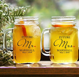 Personalized Mr. and Mrs. Mason Jars-Future Mr. and Mrs. Mason Jars
