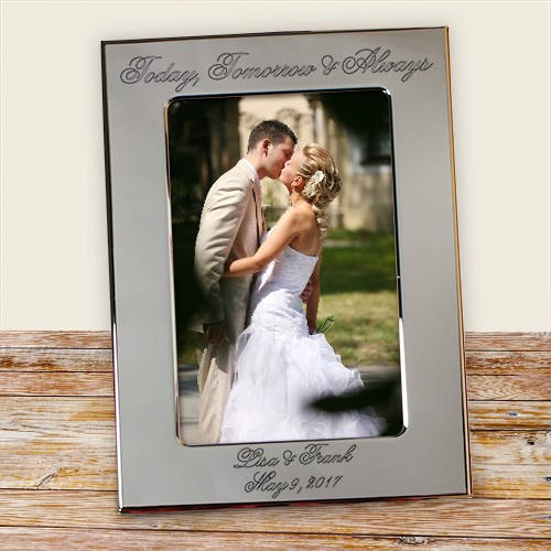 Personalized Silver Wedding Frame