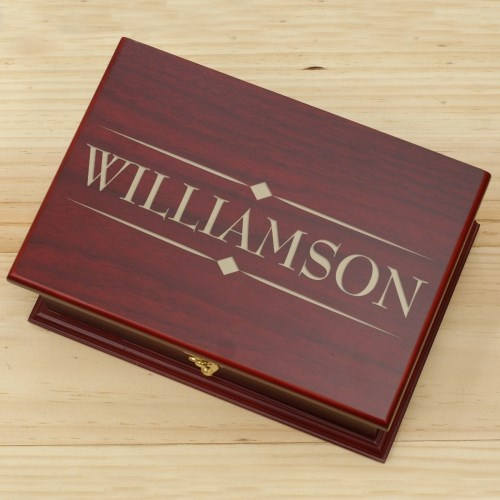Engraved Family Tea Box