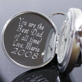 Personalized Pocket Watch, Engraved Pocket Watch