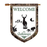 Personalized Deer and Camo House Flag