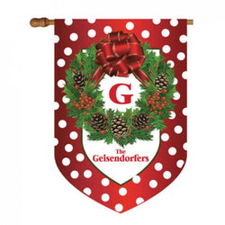 Christmas Personalized House Flag