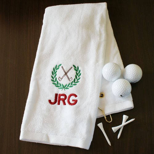 embroidered golf towel golf club personalized golf towel golf hand