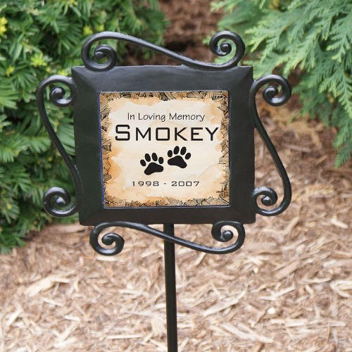 Personalized Pet Sympathy Garden Stake-Pet Memorial Yard Stake