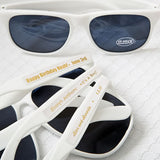 Personalized Metallic Sunglasses in White (Pack of 50)