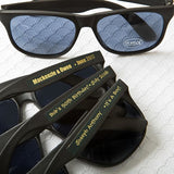 Personalized Metallic Sunglasses-Custom Party, Wedding Sunglasses Gold, Silver, Black, White (Pack of 75)