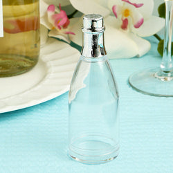Champagne Bottle Party Favors, Clear Mini Acrylic Champagne Bottles with Silver Top