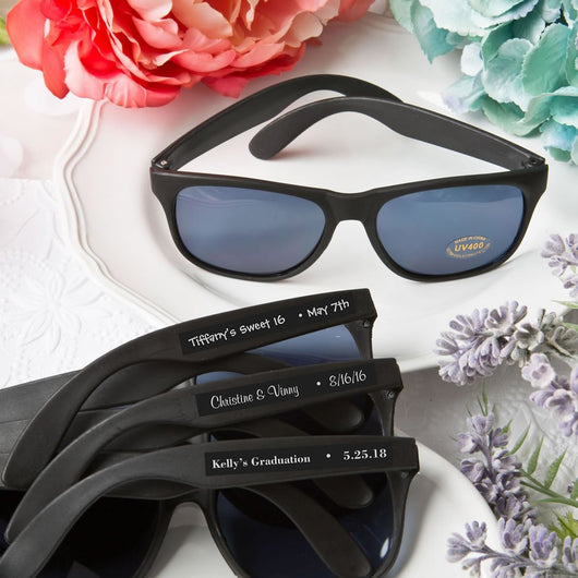 Personalized Black Wedding Sunglasses (Pack of 75)