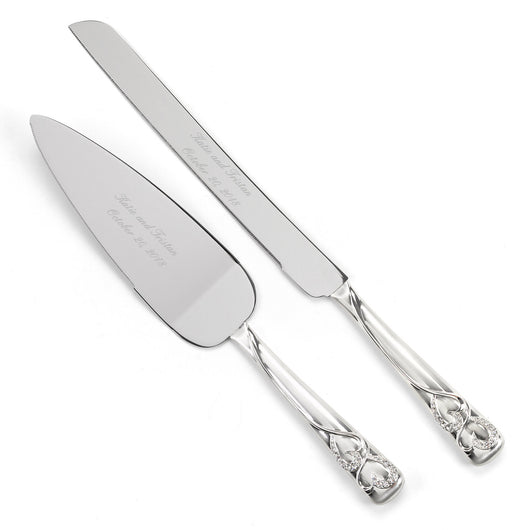 Engraved Cake Serving Set