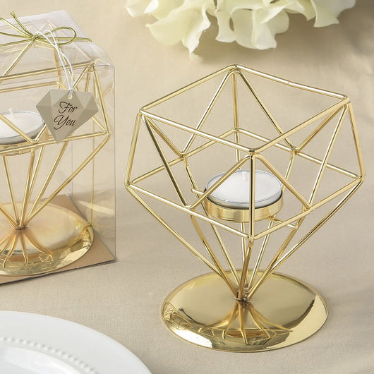 Gold Geometric Votive Holder Favor