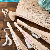 Personalized Sandalwood Wedding Fans-Pack of 150