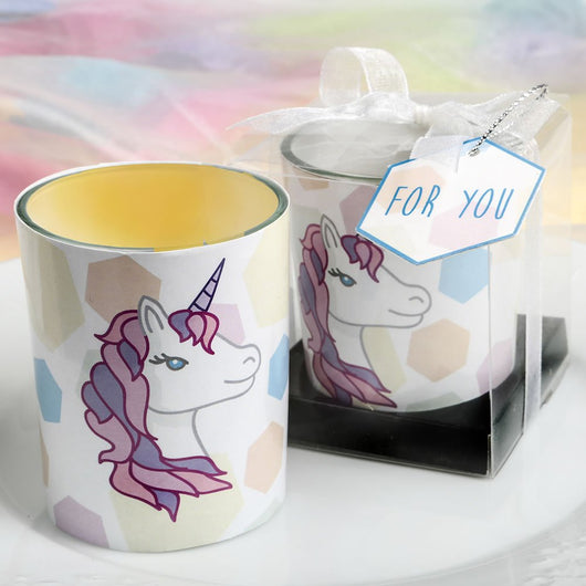Unicorn Glass Votive Holder, Unicorn Candle Holder, Unicorn Party Favor, Unicorn Decor