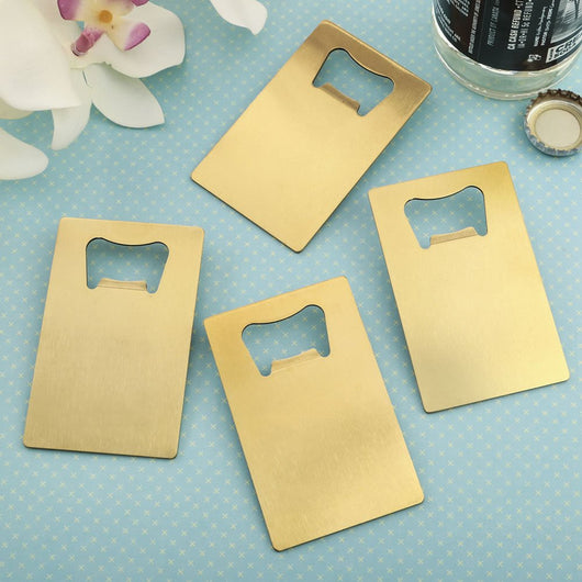 Gold Credit Card Bottle Opener Favor