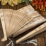 Personalized Sandalwood Wedding Fans-Pack of 50
