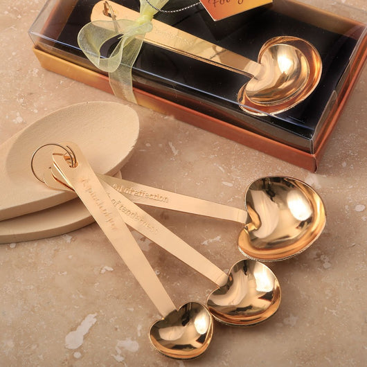 Gold Heart Shaped Measuring Spoons