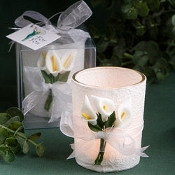 Calla Lily Candle Holder Favor