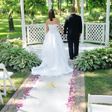 Personalized Gold Wedding Aisle Runner